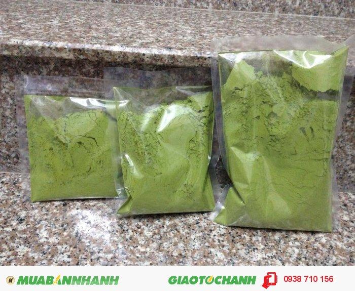 Bột trà xanh được đóng gói rất kĩ càng, kín khí1
