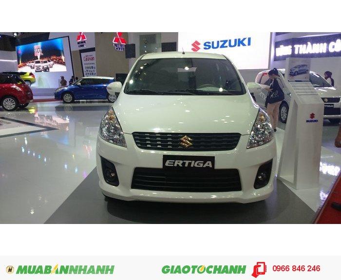 Suzuki Ertiga màu trắng Ngọc Trai, gia đình 7 chỗ ,tiết kiệm là làm giàu
