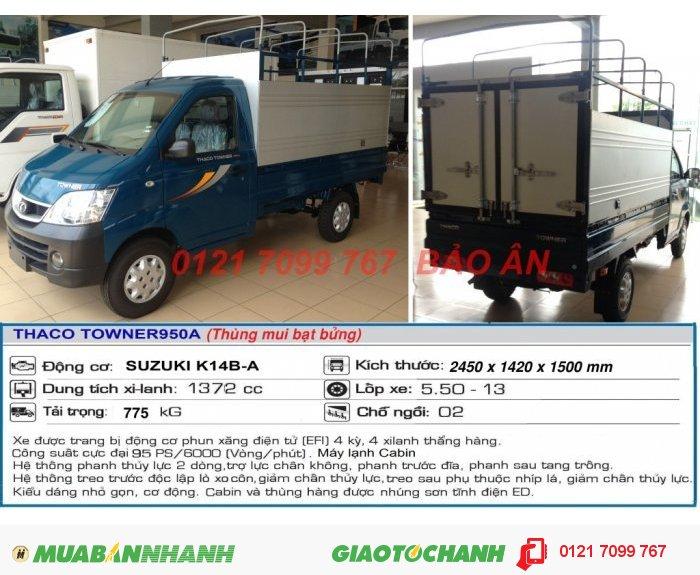 Xe Tải Nhỏ Towner 950A, Xe Tải Thaco Towner 950A - 880Kg 0