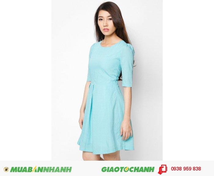 Đầm cổ tròn tay lỡ | Mã: AD228-xanh | Giá 788000 Quy cách: 84-66 (+-2): chiều dài tb: 85cm - 90cm | Chất liệu: lụa cát | Size (S - M - L - XL) | Mô tả: Trở thành cô gái quý phái và cổ điển với đầm xòe in hoa hồng., 4