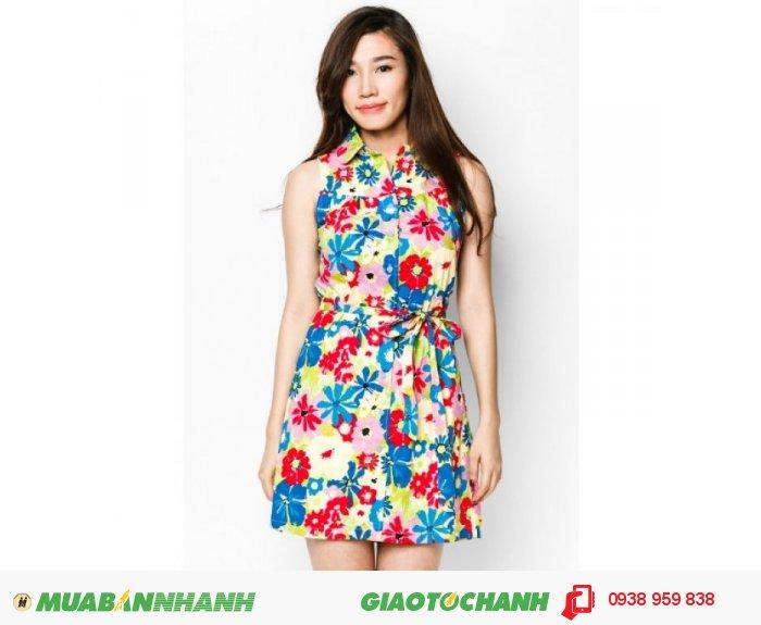Dành cho những bạn gái yêu thích sự trẻ trung và muốn nổi bật, đầm xòe in hoa nhiều màu, 2