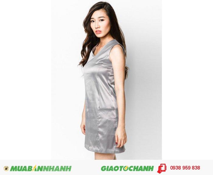 Đầm suôn phối cúp 2 túi cho người thấp | Mã: AD214-xám| Giá: 488000 Quy cách: 84-66-90 (+-2): chiều dài tb: 85cm - 90cm | chiffon lạnh | Size (S - M - L - XL) | Thiết kế phù hợp trong những buổi xuống phố nhẹ nhàng., 4
