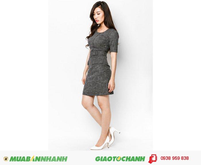 Đầm tay lỡ 2 túi trước | Mã: AD235-đen | Quy cách: 84-66 (+-2): chiều dài tb: 85cm - 90cm | Chất liệu kaki bố | Size (S - M - L - XL) |, 4