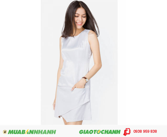 Đầm xếp phong thư | Mã:AD196-xamtrang | Giá: 488000 Quy cách: 84-64-88 (+-2) chiều dài tb: 85cm - 90cm | chất liệu: phi bóng| Size (S - M - L) | Mô tả: Đầm trơn sẽ là gợi ý tuyệt vời cho các cô gái yêu thích vẻ thanh lịch và hiện đại. Thiết kế gấu đầm may đắp chéo độc đáo tạo sự mới lạ trên trang phục., 4