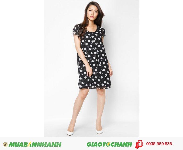 Đầm 2 lớp ngoài tay búp sen phong cách Hàn Quốc sang trọng | Mã: AD217-đen | Quy cách:84-66-90 (+-2): chiều dài tb: 85cm - 90cm | -chất liệu chiffon lụa | Size (S- M - L- XL) |, 4