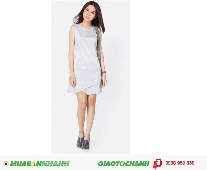 Đầm xếp phong thư | Mã:AD196-xamtrang | Giá: 488000 Quy cách: 84-64-88 (+-2) chiều dài tb: 85cm - 90cm | chất liệu: tuyết mưa| Size (S - M - L) | Mô tả: Đầm trơn sẽ là gợi ý tuyệt vời cho các cô gái yêu thích vẻ thanh lịch và hiện đại. Thiết kế gấu đầm may đắp chéo độc đáo tạo sự mới lạ trên trang phục., 3