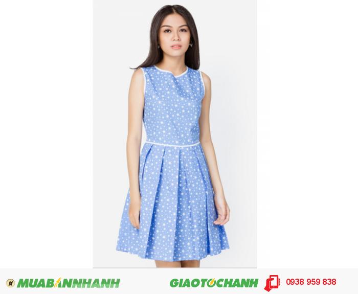 Đầm xòe xếp ly viền | Mã:AD196-AD241- xanh ngọc | Giá: 398000 Quy cách: 84-66 (+-2) chiều dài tb: 85cm - 90cm | chất liệu: cotton lạnh| Size (S - M - L) | Mô tả: Kiểu dáng xòe trẻ trung phối viền trắng nổi bật, họa tiết ngôi sao bắt mắt, mang lại vẻ ngoài hiện đại và thời trang cho bạn gái., 1