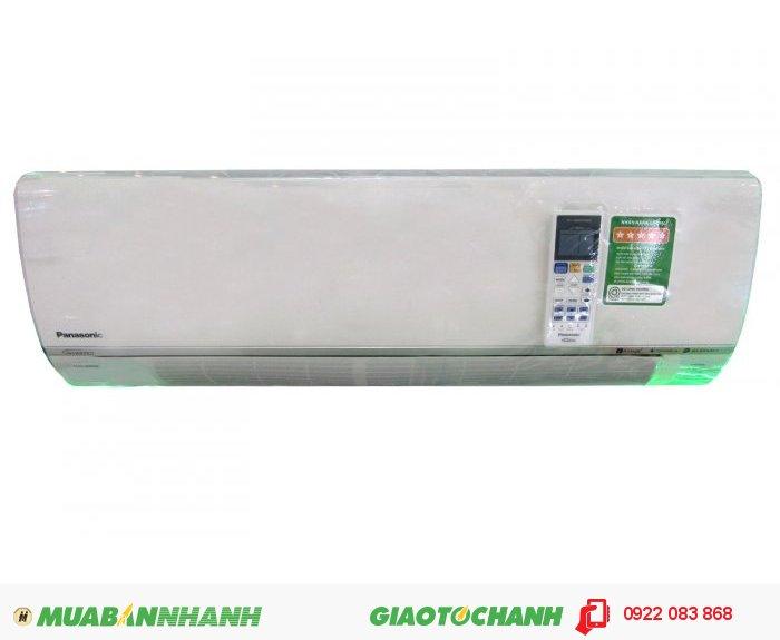 Thông số kỹ thuật: Model: Panasonic CU/CS S12RKH-8 (CU/CS-S12RKH-8) Công suất: 1.5Hp ~ 12.000Btu Dòng máy: 1 chiều lạnh Chức năng: inverter (tiết kiệm 50% điện năng) Cảm biến ECONAVI, làm lạnh nhanh, Làm lạnh không khô Môi chất lạnh: R410A. Hoạt động êm ái, không gây tiếng ồn, Dàn tản nhiệt màu xanh Nanoe-G : Lọc sạch không khí và quét sạch các phần tử gây hại bám trên bề mặt vải vóc trong căn phòng và vô hiệu hóa vi khuẩn và virus bị giữ lại bên trong màng lọc.a Kích thước: Dàn lạnh: 290 x 870 x 214 mm Dàn nóng: 542 x 780 x 289 mm Sản xuất tại: Malaysia Bảo hành: 12 tháng, 4