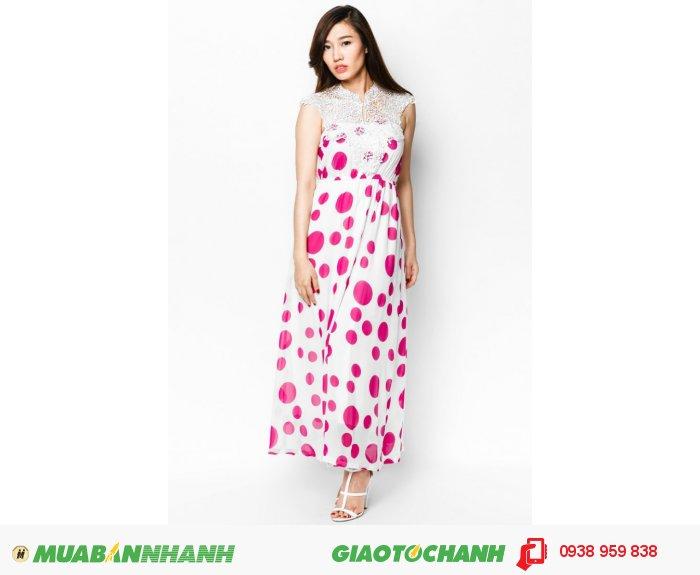 Đầm Maxi ren cổm | Mã: AD224-trắng hồng | Giá: 488000 Quy cách: 84-64-88 (+-2), chiều dài tb: 85cm - 90cm | chiffon | Size (M) | Mô tả: Dịu dàng và thanh lịch với đầm maxi in hoa. Thiết kế phối ren phần cổ góp phần tăng thêm nữ tính cho bạn, 2