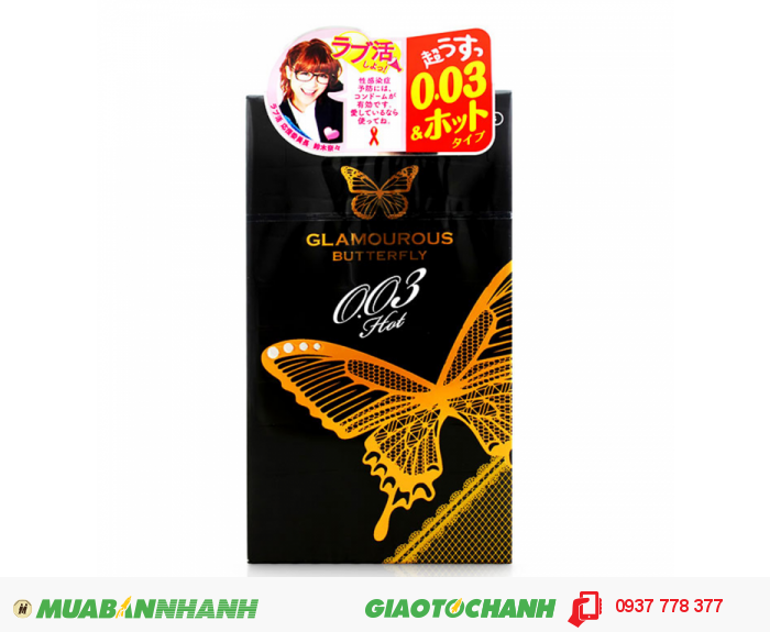 Bao Cao Su Jex Glamouros Butterfly Hot 003 Hộp 10 BCS0
