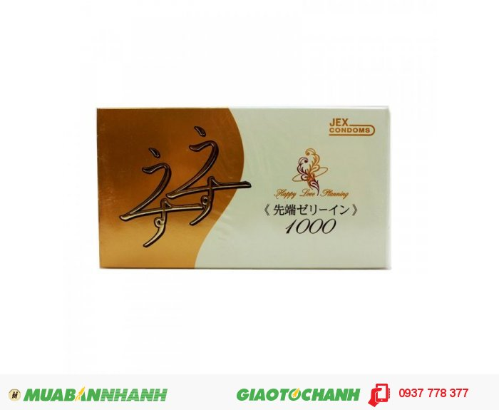 Bao Cao Su Jex Usuusu Jelia Coat R1000 - Ôm Khít Hộp 12 BCS0