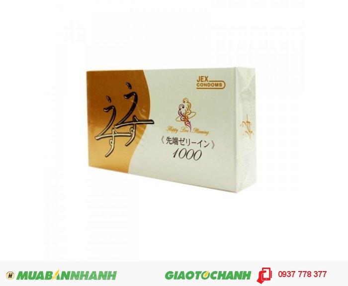 Bao Cao Su Jex Usuusu Jelia Coat R1000 - Ôm Khít Hộp 12 BCS1