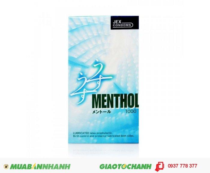 Bao Cao Su Jex UsuUsu Menthol - Mát Lạnh Sảng Khoái Hộp 12 BCS0