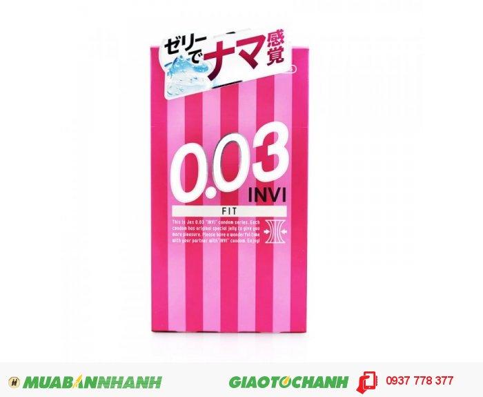 Bao Cao Su Jex INVI 003 FIT - Cực Siêu Mỏng & Ôm Khít Hộp 8 BCS0