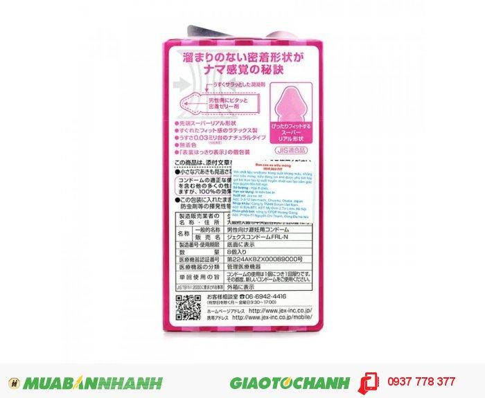 Bao Cao Su Jex INVI 003 FIT - Cực Siêu Mỏng & Ôm Khít Hộp 8 BCS1