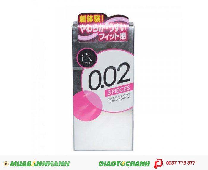 Bao Cao Su Jex Condom 0.02mm Hộp 3 BCS0