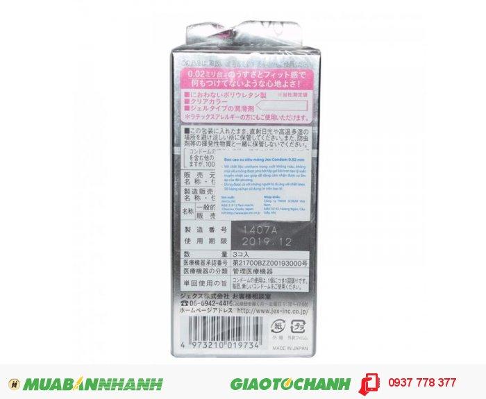 Bao Cao Su Jex Condom 0.02mm Hộp 3 BCS1