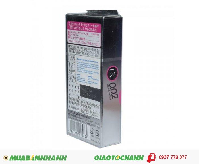 Bao Cao Su Jex Condom 0.02mm Hộp 3 BCS2