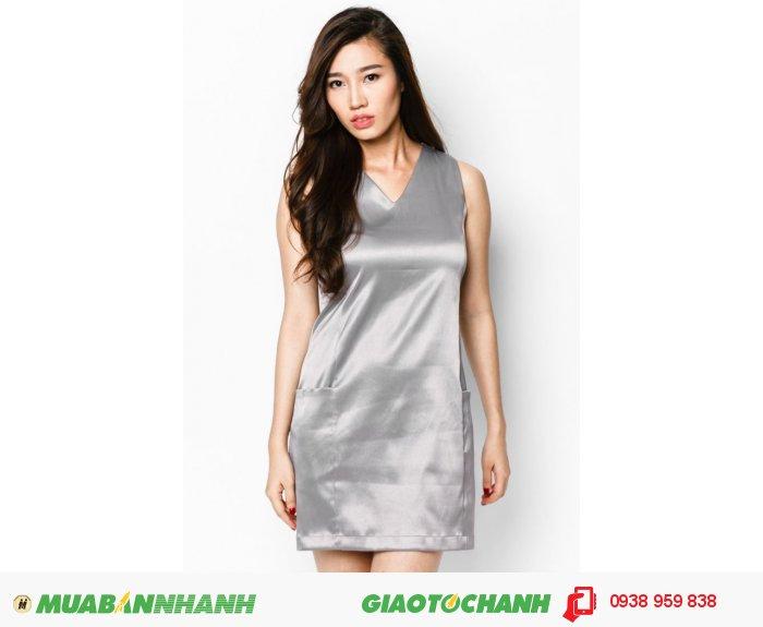Đầm suôn phối cúp 2 túi | Mã: AD214-xam| Quy cách: 84-66-90 (+-2): chiều dài tb: 85cm - 90cm | - Chất liệu kaki thun. | Size (S - M - L - XL) |, 4