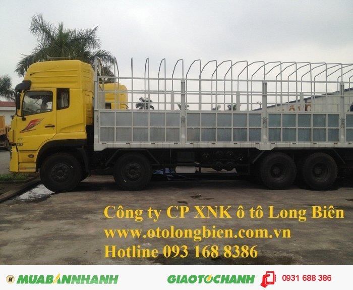 Xe sat xi, tải thùng 4 chân Dongfeng tải trọng 17-17,9 tấn Long Biên, Hà Nội 2015 1