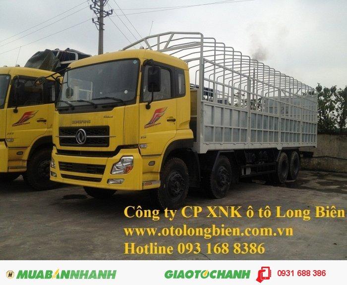 Xe sat xi, tải thùng 4 chân Dongfeng tải trọng 17-17,9 tấn Long Biên, Hà Nội 2015 2