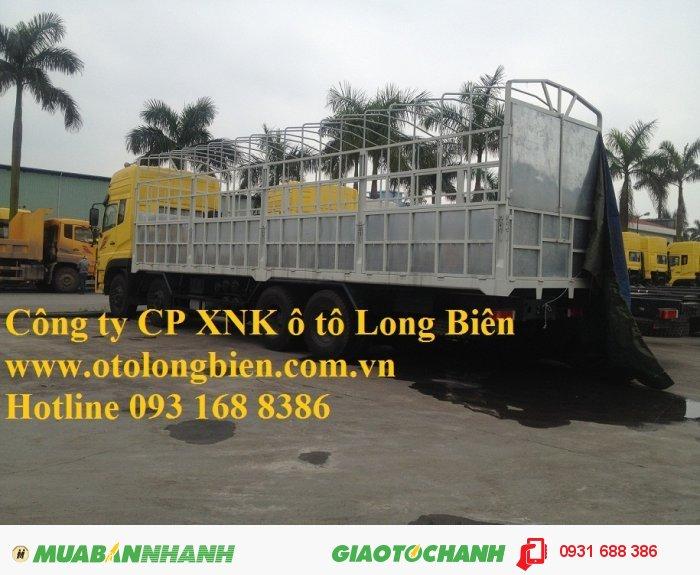 Xe sat xi, tải thùng 4 chân Dongfeng tải trọng 17-17,9 tấn Long Biên, Hà Nội 2015 3