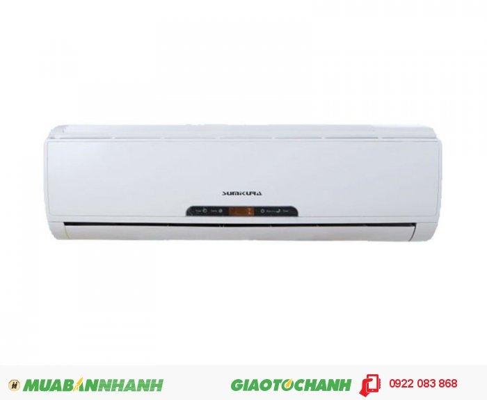Sumikura APS/APO-092Loại máy: 1 chiều lạnhCông suất (Btu/h): 9.000Hãng sản xuất: SumikuraSản xuất tại: MalaysiaSản phẩm phù hợp với phòng có diện tích: 9 - 15 m2Gas: R22Điều khiển từ xaBảo hành: 24 tháng cho thiết bị, 60 tháng cho máy nén, 1