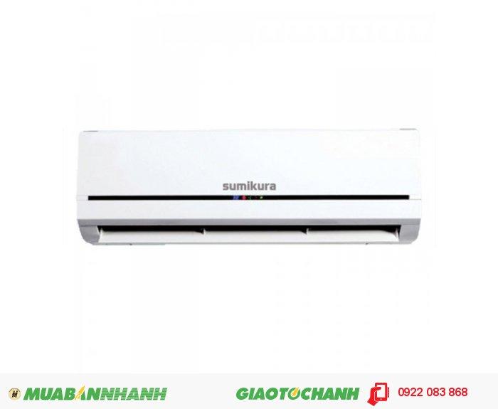 Sumikura APS/APO-120- Loại máy : 1 chiều- Điện áp/tấn số/pha: 220-240/50/1- Công suất làm lạnh/nóng (Btu/h) : 12000/13000- Công suất điện (W) : 1150/1236- Dòng điện (A): 5.2/5.6- Hiệu năng EER (Btu/wh): 3.06/3.08- Khử ẩm ( lít/h) : 1.4- Lưu lượng gió khối trong ( mét khối/h): 550/500/450- Độ ồn khối trong ( dB) ( Cao/trung bình/thấp) : 40/38/36- Độ ồn khối ngoài ( dB): 52- Kích thước (mm): 790/270/187- Trọng lượng (kg): 8/9- Môi chất: R22- Kích thước ống nối ( Lỏng/hơi) ( mm): 6.35/12.7, 3
