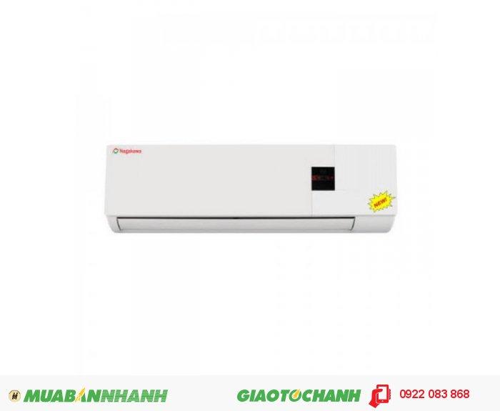 Nakagawa NS-C09AKCông suất lạnh: 18.000 Btu/hCông suất điện tiêu thụ: 1.8 KwLưu lượng gió: 14 m3/phútKích thướcDàn lạnh (CxRxS): 292 x 860 x 205Dàn nóng (CxRxS): 575 x 847 x 290Trọng lượngDàn lạnh: 12 Kg - Dàn nóng: 48 KgKích thước ống dẫn Gas: 6.4 mm/12.7mm (có cách nhiệt)Loại Gas: R22Chiều dài đường ống tối đa; 9mChênh lệch độ cao tối đa: 4m, 2