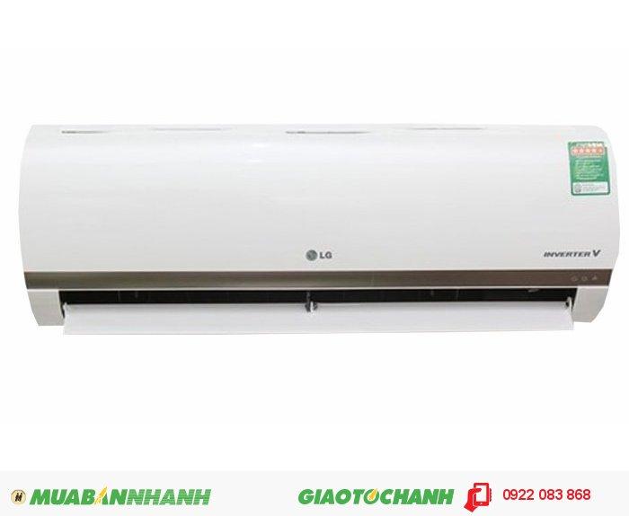 LG V18ENT (Inverter)Công suất: 2 Ngựa (2 Hp) - 18.000 Btu/hXuất xứ: Thái LanBảo hành: 12 thángCông suất làm lạnh:Tính theo W: 5.517Tính theo Btu/h: 18.000Kích thước:Cục trong (RxCxS): 895x285x210 mmCục ngoài (RxCxS): 720x500x230 mm Trọng lượng:Cục trong (kg): 13.5Cục ngoài (kg): 35, 4