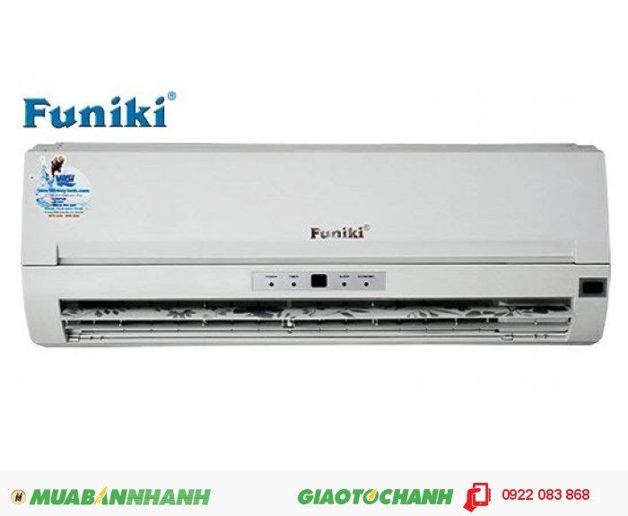 Funiki SBC091 chiều lạnhCông suất: 9000btuĐặc điểm cơ bản Làm lạnh trong thời gian ngắnKiểu máy điều hòa Treo tườngLoại máy điều hòa Một chiềuĐiện nguồn vào máy 380VCông suất điện làm nóng 850WCông suất điện làm lạnh 850WTốc độ gió Tính năng hút ẩm 5LKích thước cục trong (D x R x C) 350x840x840mmKích thước cục ngoài (D x R x C) 990x960x360mmKhử mùi, diệt khuẩnChế độ hút ẩmĐiều khiển từ xa dạ quangXuất xứ: Việt Nam Bảo hành: Chính hãng 30 tháng, 1