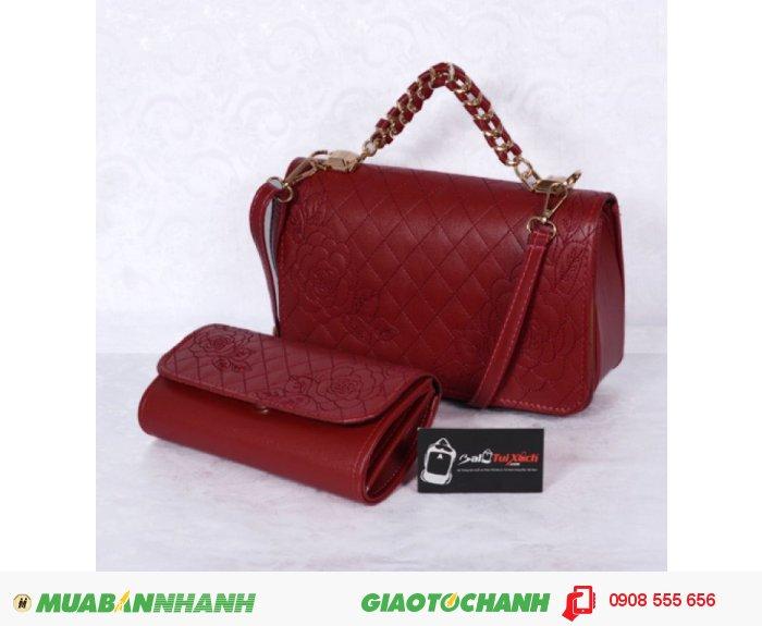 KNK_6903 Túi xách bộ đôi nhỏ WNTXV0415023 | Giá: 235.000 VND | Loại: Túi xách | Màu sắc: đỏ | Chất liệu: simili cao cấp | Trọng lượng: 700 g | Kích thước: 27x17x9 cm |, 1