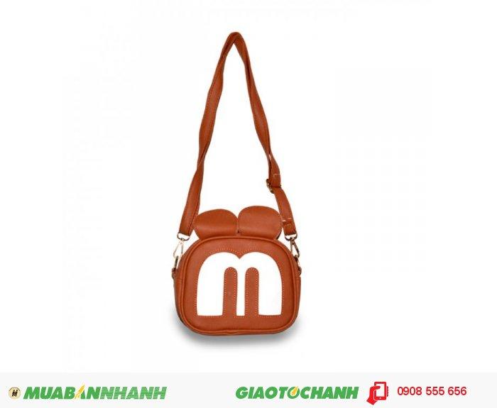 Túi đeo chéo mặt chuột Mickey MCTDC1015003 màu nâu vàng