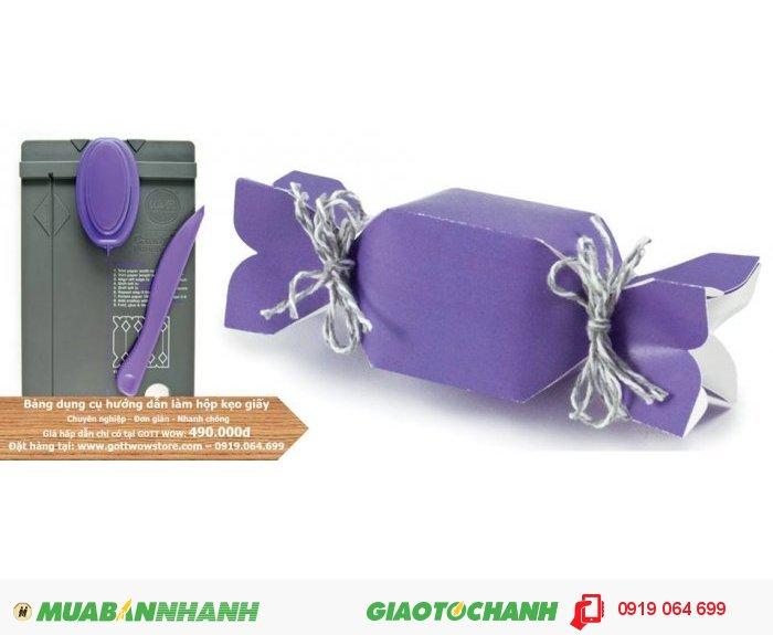 Bảng dụng cụ hướng dẫn làm hộp kẹo giấy handmade chuyên nghiệp