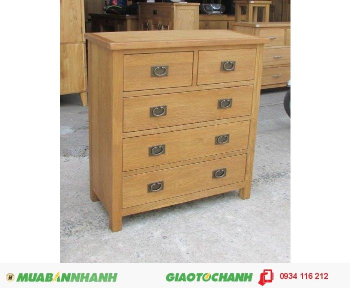Tủ ngăn kéo gỗ sồi đỉnh dày EUF 026 - 0,9m