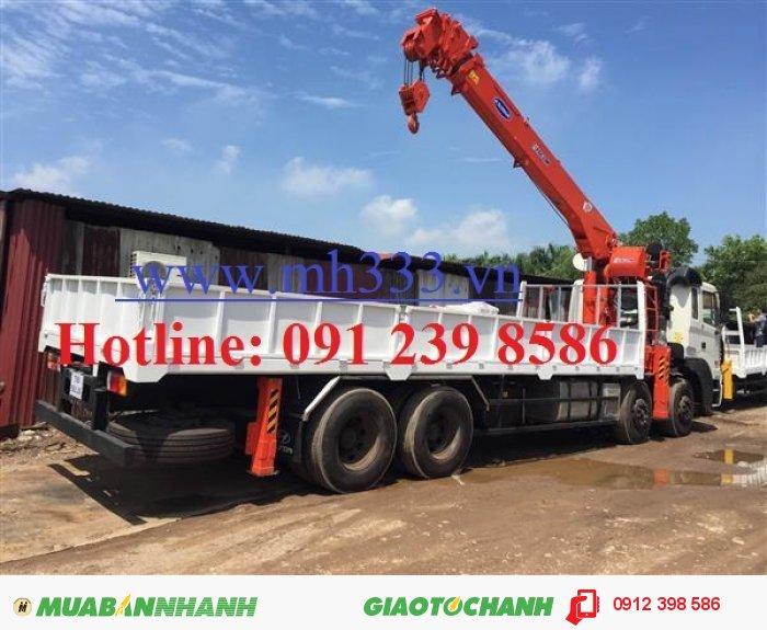 Xe tải Dongfeng L315 lắp cẩu Kanglim 10 tấn KS2605 0