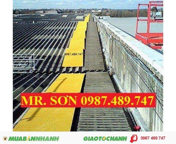 Sàn lót làm lối đi trên mái nhà máy, tấm sàn làm lối đi trên mái nhà xưởng0