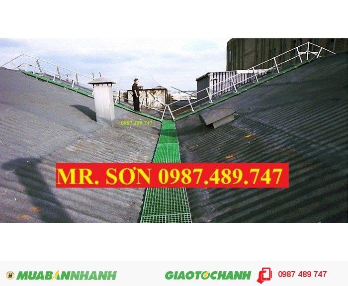 Tấm sàn ô lưới frp lót trên mái nhà chống trượt, sàn lót trên mái nhà frp2