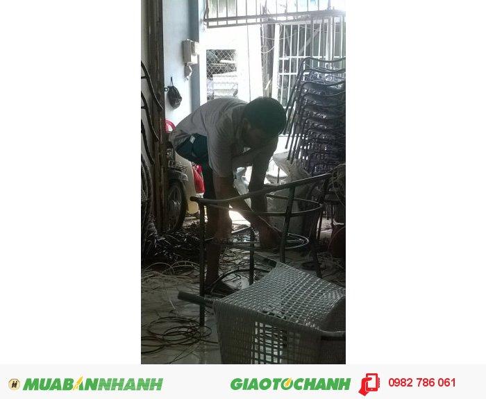 Sửa chửa bàn ghế cafe nhựa giả mây giá rẻ thành phố Hồ Chí Minh