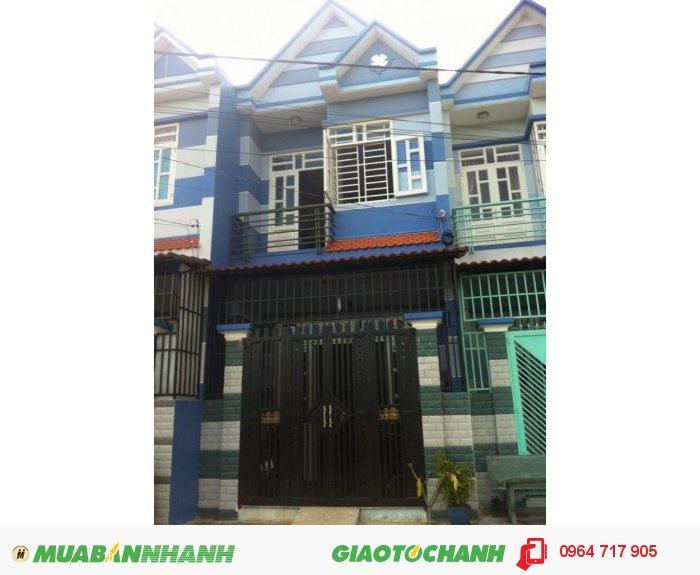 Nhà KDC Happy Home One -cách Nguyễn Thị Tú 0,5 km ,1 trệt 1 lầu  735 tr