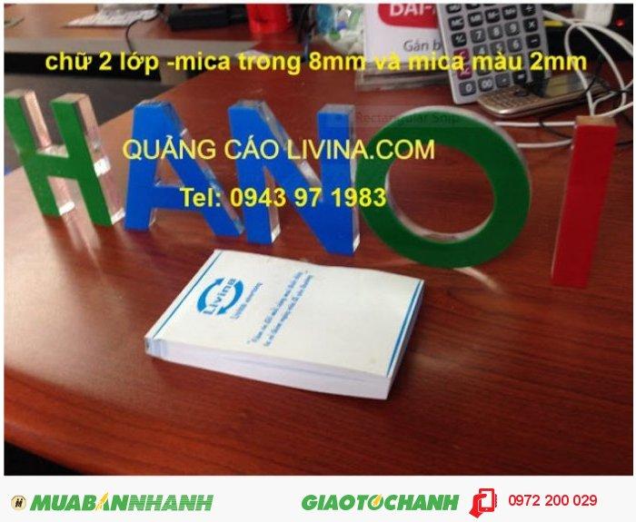 Chữ nổi mica tại Q3 TPHCM, 2