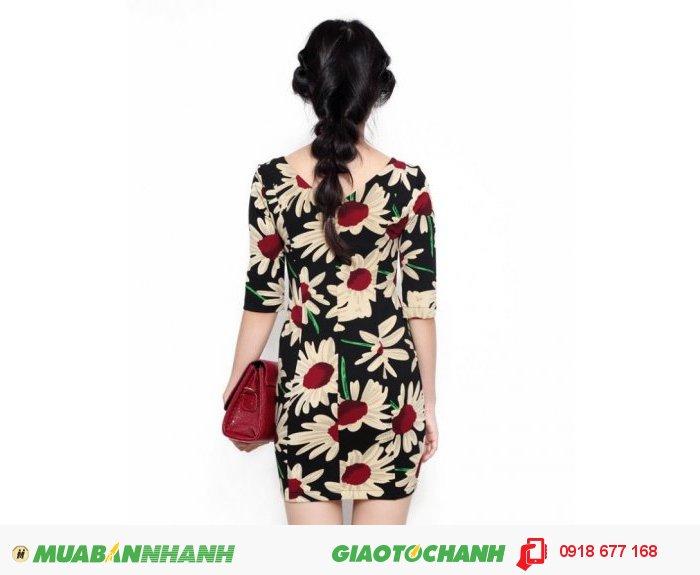 Đầm body tay lỡ in hoa ZID261851