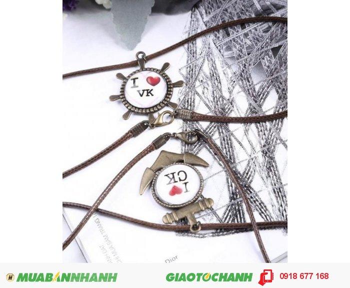 Cặp dây chuyền tình nhân đáng yêu ZID22491