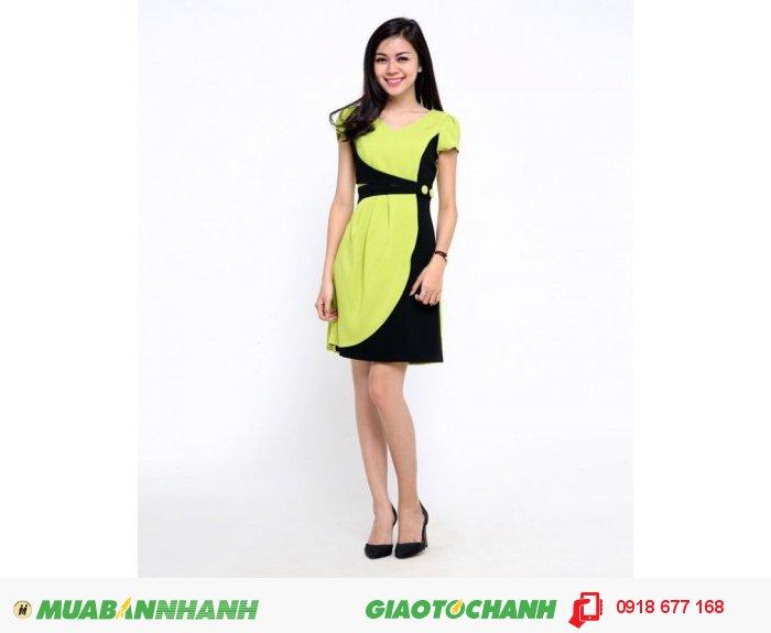 Đầm công sở nữ phối màu ZID155080