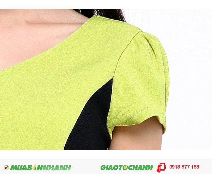 Đầm công sở nữ phối màu ZID155081