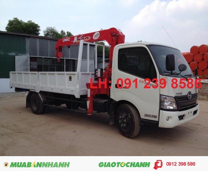 Xe tải hino xzu730 gắn cẩu unic 3 tấn, xe tải cẩu unic 4 tấn