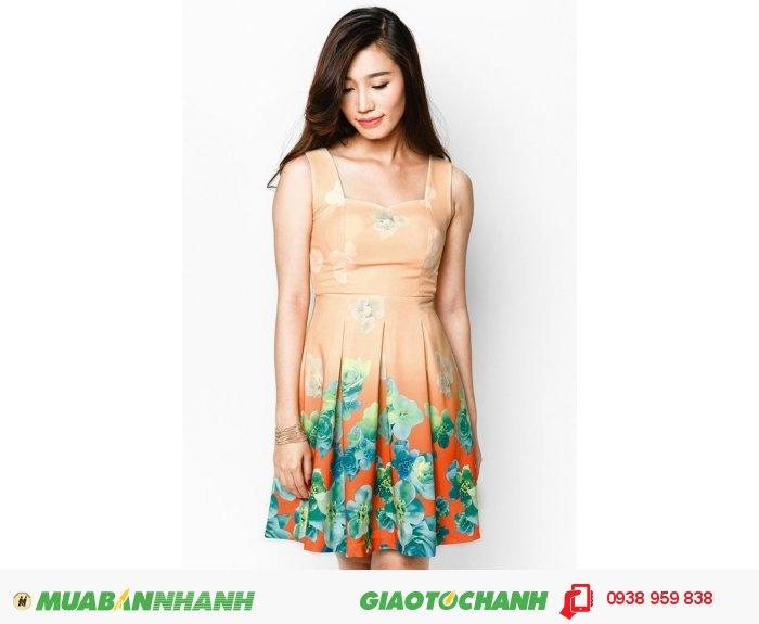 Đặc biệt, họa tiết chấm bi, sọc ngang hay hoa là điểm nhấn đáng yêu cho trang phục. Bạn có thích chiếc đầm xòe in hoa đáng yêu này không?, 3