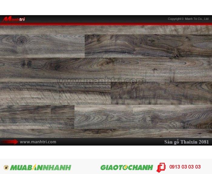 Sàn gỗ công nghiệp Thaixin MF2081, dày 8.3mm, chống cháy chồng trầy, chịu nước: Qui cách: 1205 x 192 x 8,3 mm; Chống trầy: AC4; Ứng dụng: Thi công lắp đặt làm sàn gỗ nội thất trong nhà, phòng khách, phòng ngủ, phòng ăn, showroom, trung tâm thương mại, shopping, sàn thi đấu. Giá: 229.000VND, 2