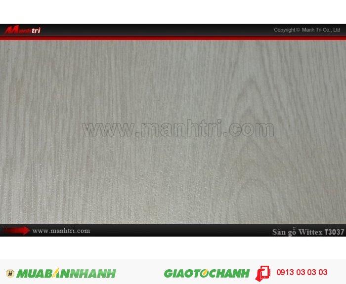 Sàn gỗ công nghiệp Wittex T3037: Qui cách: 1215 x 195 x 8.3mm; Ứng dụng: Thi công lắp đặt làm sàn gỗ nội thất trong nhà, phòng khách, phòng ngủ, phòng ăn, showroom, trung tâm thương mại, shopping, sàn thi đấu. Giá: 149.000VND, 5