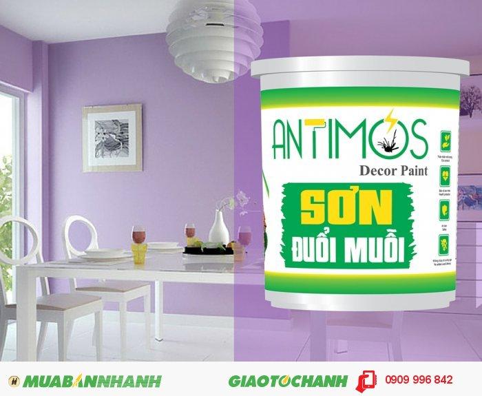 Sơn đuổi muỗi thảo dược Antimos là sơn nước cao cấp có khả năng đuổi muỗi và các côn trùng gây hại nhờ tích hợp các thảo dược thiên nhiên đuổi muỗi (tinh dầu sả, bạc hà, oải hương), 3